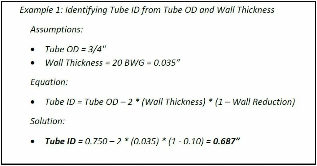 Tube ID Calculation